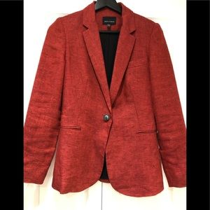JUDITH & CHARLES/Ladies/ Red/ Linen/Blazer/ 0